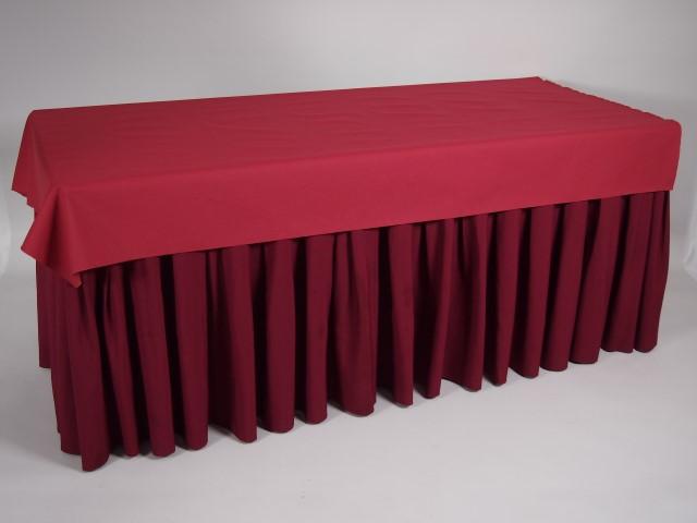 Keuken Bordeaux Rood : > Producten > Interieur > Tafellinne > Buffetrok 4m Bordeaux rood