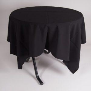 tafel graniet Ø80 met tafelkleed zwart     1