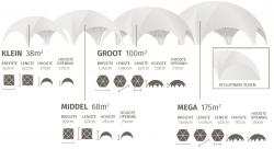 Afmeting tenten mega dome voor reclame