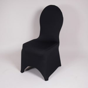 stoel gestoffeerd met stoelhoes zwart 1
