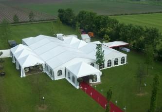 A, Megadome tent, Partyverhuur Goossens, Bluiloft, Huwelijk, Ronde tent, Crossover tent, Hexadome tent, Partytent, Feesttent, Evenementen