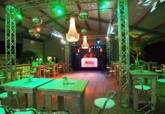 Decoratie, Wedding,  Partyverhuur Goossens, Partyservice, Aankleding, Led hangtafels, Led Bar, Tap, Huwelijk, Bruiloft, Opening