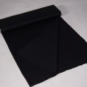 doek zwart op rol per m   1