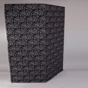 kamerscherm 2,25x2 zwart   1