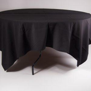 tafel Ø 120 met tafelkleed zwart   1