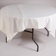 tafel Ø 153 met tafelkleed wit   1