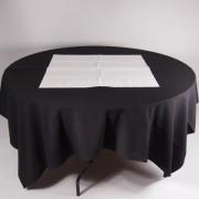 tafel Ø 153 met tafelkleed zwart   3