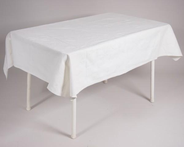tafel graniet 115×70 met tafelkleed wit   1
