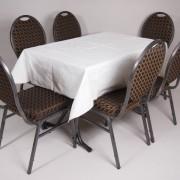 tafel graniet 115×70 met tafelkleed wit   3