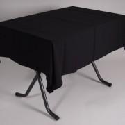 tafel graniet 115×70 met tafelkleed zwart   1