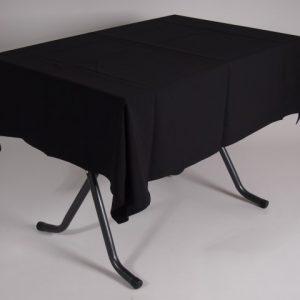 tafel graniet 115x70 met tafelkleed zwart   1