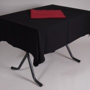 tafel graniet 115×70 met tafelkleed zwart   2