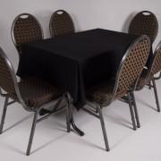 tafel graniet 115×70 met tafelkleed zwart   3