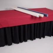 tafelhout 180×80 met zwarte rok en vilt   3