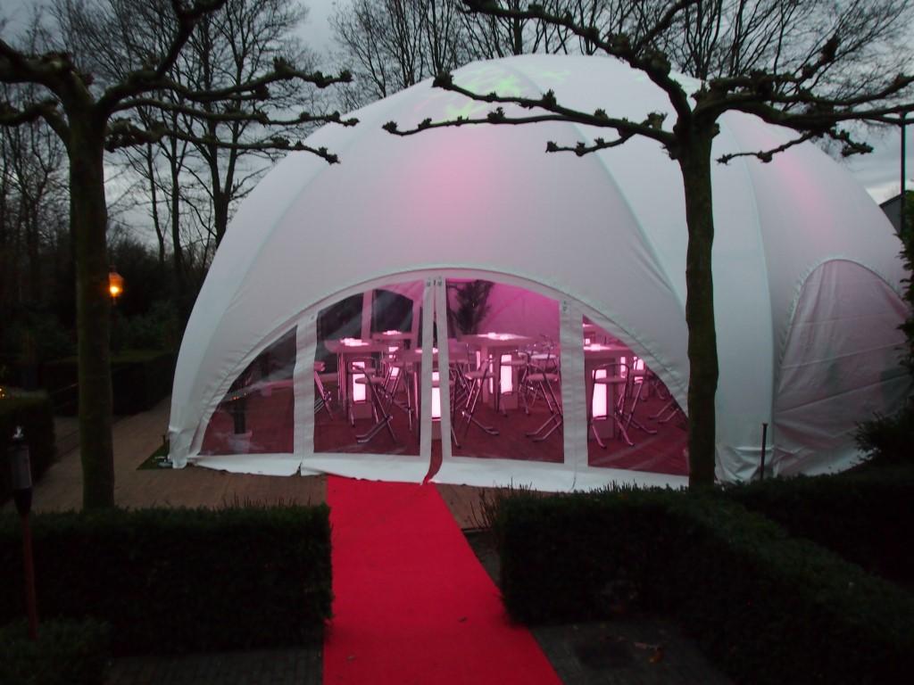Megadome tent, Partyverhuur Goossens, Bluiloft, Huwelijk