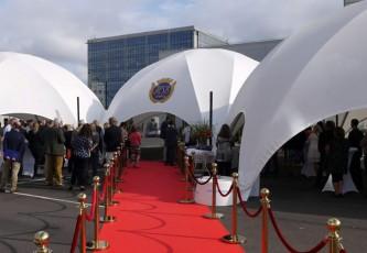 Opening, Magadome, Mega dome, Partyverhuur Goossens, De Mortel, Huwelijk, Bruiloft