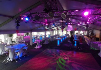 Tent, Partyverhuur Goossens, Partyservice, Aankleding, Led hangtafels, Led Bar, Tap, Huwelijk, Bruiloft, Opening