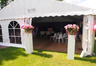 Wedding, Megadome tent, Partyverhuur Goossens, Bluiloft, Huwelijk, Ronde tent, Crossover tent, Hexadome tent, Partytent, Feesttent, Evenementen