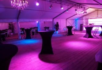 Zwarte stetch rokken, Megadome tent, Partyverhuur Goossens, Bluiloft, Huwelijk, Ronde tent, Crossover tent, Hexadome tent, Partytent, Feesttent, Evenementen